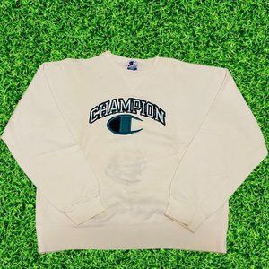 Vintage Champion Big Logo Crewneck Sweatshirt